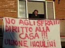 Resistenza agli sfratti, Unione Inquilini, Italia